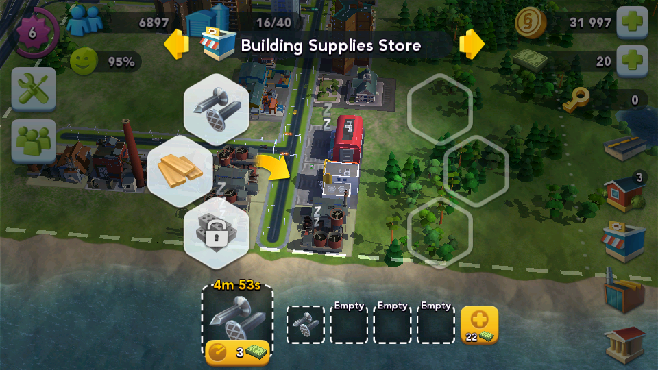 sim city buildit production queues